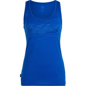 Icebreaker Tech Lite Coronet Peak Sleeveless Shirt Women blue